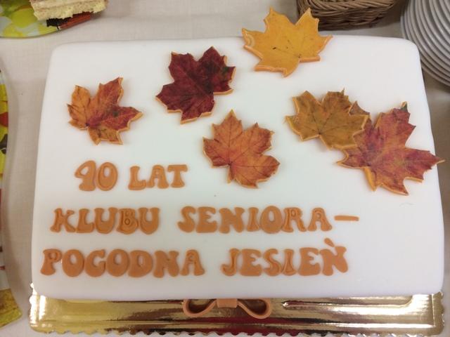 2018 Jubileusz 40-lecia Klubu Seniora Pogodna Jesień - tort
